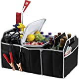 Car Trunk Organizer, Black, 3 Large Sections of Storage, Store Your Cleaning Supplies, Emergency Gear, Groceries, Tools, Great For On The Go Moms (1)