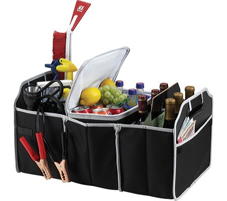 Amazon.com: Car Trunk Organizer, Black, 3 Large Sections of Storage, Store Your Cleaning Supplies, Emergency Gear, Groceries, Tools, Great For On The Go Moms (1): Kitchen & Dining