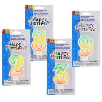 Birthday Candles (Number 6) - 1