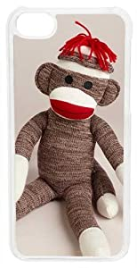 CellPowerCasesTM Sitting Sock Monkey Case for iPhone 5c (White Case)