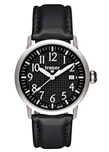 Traser Classic Basic Watch with Leather Strap - Black