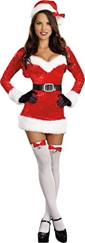 Santa Baby Adult Womens Costume Sexy Red Dress Christmas Outfit Theme Party