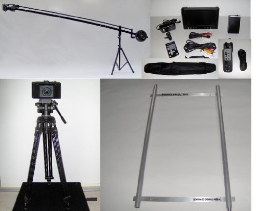12 ft. Camera Crane Jib with Stand, LCD, Dolly, Remote and Bag