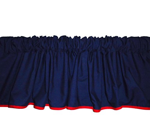 Baby Doll Reversible Window Valance, Navy/Red