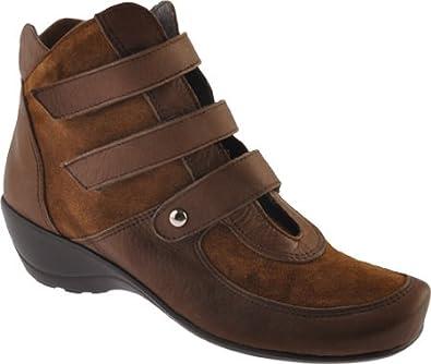 Antia Women's Ellen Cognac Leather/Suede 6 WW US