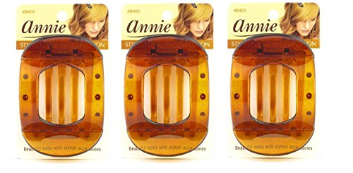 Annie Updo Claw Hair Clip - Brown 3 pieces (Hair Updo Clip compare prices)