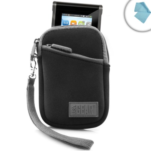 Portable Wi-Fi Hotspot Carrying Case with Neoprene Cushion , Belt Loop & Wrist Strap by USA GEAR - Works with Huawei E5330 , Verizon MiFi 6620L , AT&T Unite Pro & More Mobile Hotspots (Verizon Portable Hotspot compare prices)