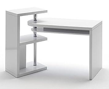 schreibtisch pc tisch 40126 wei hochglanz dee486. Black Bedroom Furniture Sets. Home Design Ideas
