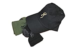 Browning Hosiery Men's Hat and 2 Pair Socks Pack Combo