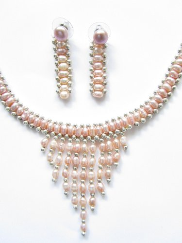 Genuine Freshwater Pearl Set Peach
