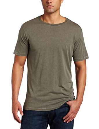 Splendid Men's Short Sleeve Crew Neck Tee, Fatigue, Small