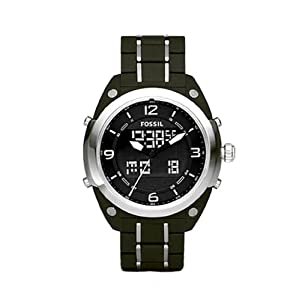 fossil s bq9383 olive stainless steel
