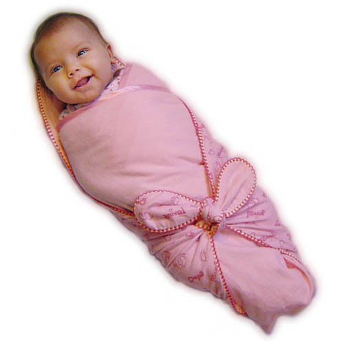 "Loving Baby Swaddle Blanket, ""The Perfect Swaddle!"", Snugly Pink"