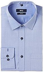 Basics Men's Formal Shirt (8907054463152_14BFS31143_Blue_40)