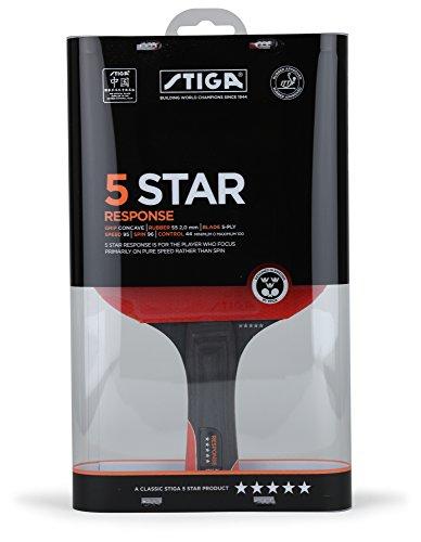 Stiga Response - Racchetta da ping pong, colore: Rosso