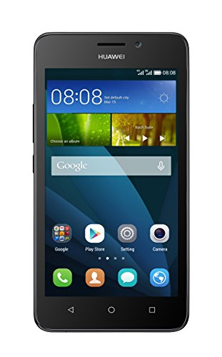 Huawei Y635 Smartphone (12,7 cm (5 Zoll) IPS-Display, 1,2 GHz-Quad-Core-Prozessor, 5 Megapixel-Kamera, 8 GB interner Speicher, Dual-SIM,  Android 4.4) schwarz