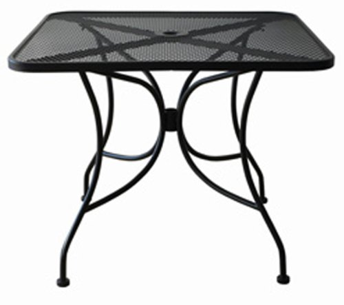 Black Mesh Top Outdoor Table, 30