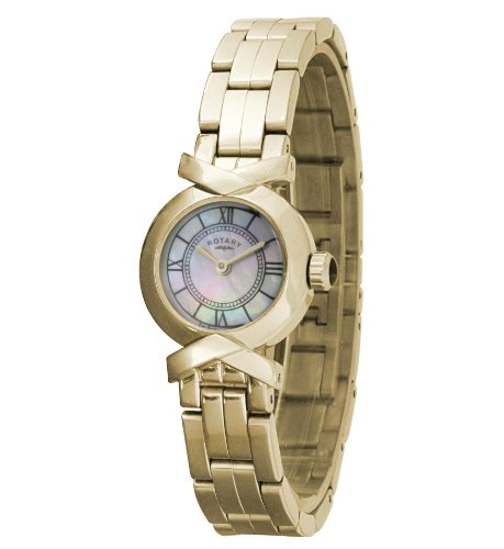 Rotary Gold Plated Ladies Bracelet Watch - LB02861/40