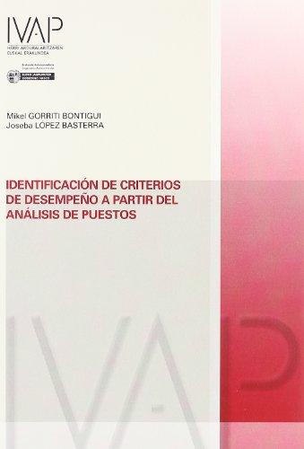 Identificacion de criterios de desempeño a partir del analisis de (Denetik I.V.A.P.)
