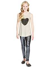 Studded Heart Vest Top & Leggings Outfit