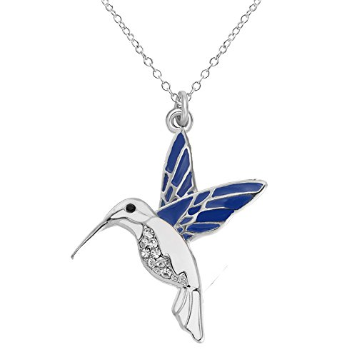 Senfai trochilus crystal charm blue hummingbird pendant necklace senfai trochilus crystal charm blue hummingbird pendant necklace length 18 extender 2silver aloadofball Image collections