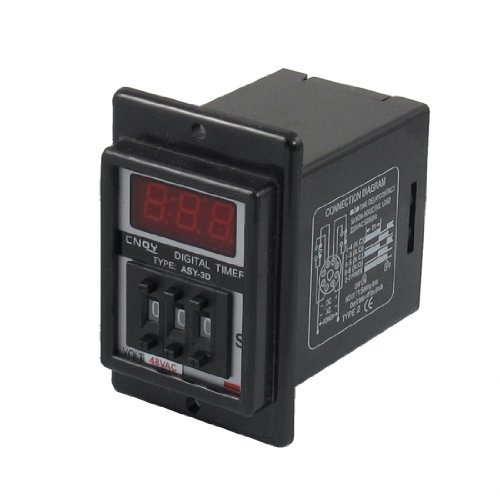 water-wood-ac-48v-001-999-second-digital-timer-time-delay-relay-black-8-pin-asy-3d