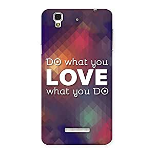 Ajay Enterprises Do Love Back Case Cover for Yu Yureka
