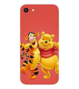 Evaluze pooh Printed Back Cover for APPLE IPHONE 7