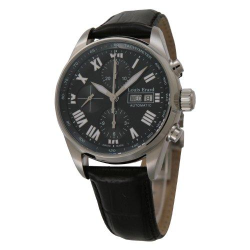 [ルイエラール]Louis Erard 腕時計 ヘリテージクロノ デイデイト 黒革 自動巻き メンズ 78102AA02.BDC02 メンズ 【並行輸入品】