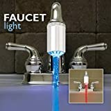 Brushed Silver Faucet Light - Temperature Controlled Faucet Light