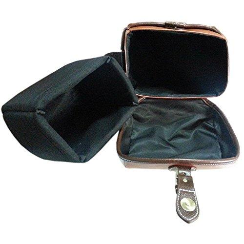 Topixdeals Vintage Look Britpop DSLR Waterproof Camera Bag for Canon Nikon Sony Pentax Red Brown 3