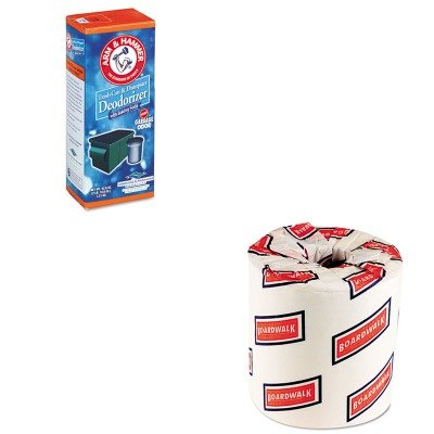 Kitbwk6180Chu3320084116 - Value Kit - Arm And Hammer Trash Can Amp;Amp; Dumpster Deodorizer (Chu3320084116) And White 2-Ply Toilet Tissue, 4.5Quot; X 3Quot; Sheet Size (Bwk6180) front-233552