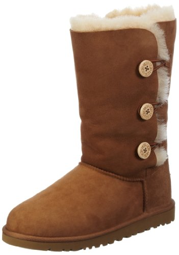 ugg-bailey-button-triplet-boot-kids-size-3-chestnut