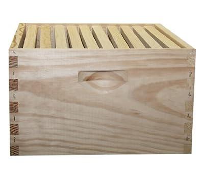 Mann Lake HK180 Assembled 10-Frame Hive Kit, Wood-Frames, 9-5/8-Inch