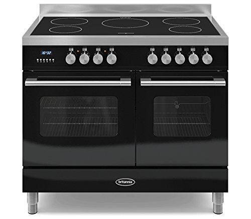 Britannia RC-10TI-DE-K 100cm Delphi Induction Twin Oven Range Cooker Gloss Black