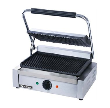 Adcraft SG-811E Commercial Panini Press Sandwich Grill NSF