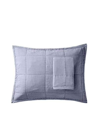 Mélange Home Set of 2 Vagabond Stonewash Pillow Covers, Ocean, Standard