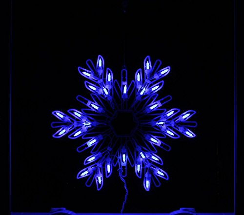 Sworna holiday series sn 64 merry christmas ball star for 16 lighted snowflake christmas window silhouette decoration