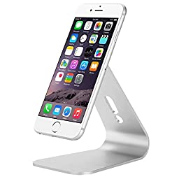 Kbtel Universal Micro-suction Mobile Phone Desktop Stand Mount Holder Stander Cradle - Silver