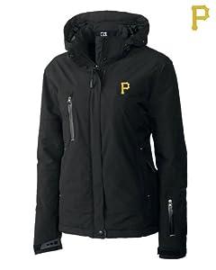 Pittsburgh Pirates Ladies WeatherTec Sanders Jacket Black by Cutter & Buck