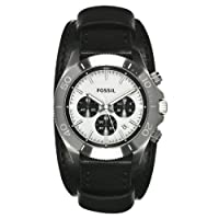 Fossil Men's CH2856 Retro Traveler Chronograph Black Leather Watch by FOSSIL