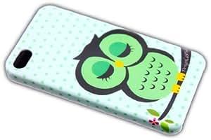 Apple iPhone 4/4S Süße Eule Owl Design Premium Schutz-Hülle Hard Case Schale thematys®