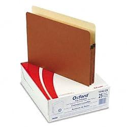 Pendaflex 1in Expansion File Pocket, Manila/Red Fiber, Letter, 25/box