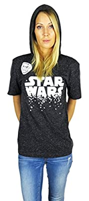 Star Wars Womens Short Sleeve Lounge Hoodie Charcoal
