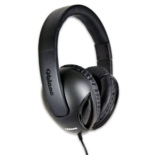 Syba Og-Aud63038 Nc-1 Cobra Over-Ear Headphones With In-Line Microphone - Retail Packaging - Black