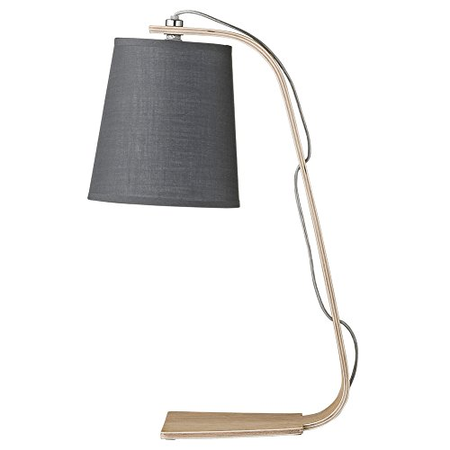 Bloomingville Tischlampe Holz grau Retro 40cm