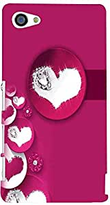 PRINTVISA Love Hearts Case Cover for Sony Xperia Z5 Compact