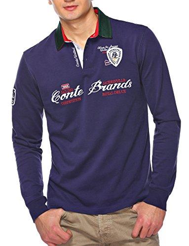 Sweat Maglietta T-Shirt Polo Felpa manica lunga per uomo di M.Conte Martinos blu M