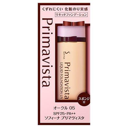 花王 ソフィーナ プリマヴィスタ 化粧のり実感 リキッド ファンデーションUV SPF25 PA++ (くずれにくいタイプ) オークル05