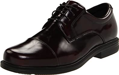 huge discount 624cb 42f1c 舒适)Rockport Mens Editorial Offices Cap Toe 乐步adiPRENE减震皮鞋黑色